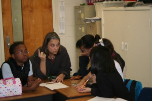 Susie Works With Students at South Warren
