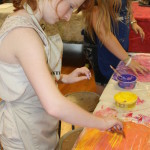 Student making art in Salisbury