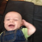 Smiling 2 month old Zach